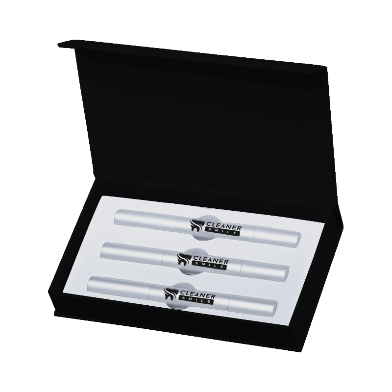activated charcoal teeth whitening LED kit top view